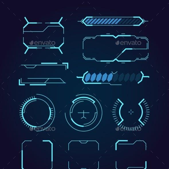 Sci Fi UI Hud Web Futuristic Elements Modern