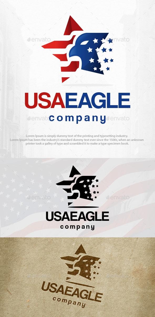 USA Star Eagle Logo Template - Animals Logo Templates