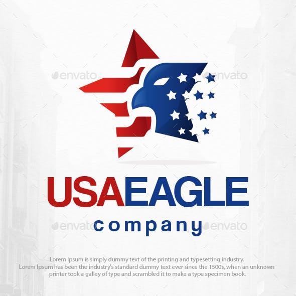 USA Star Eagle Logo Template