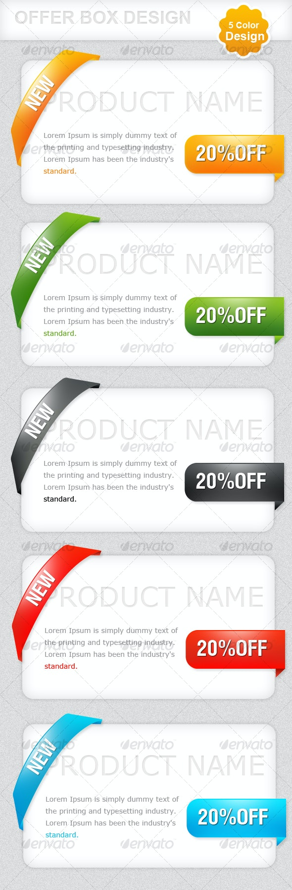Simple Offer-box Design - Miscellaneous Web Elements