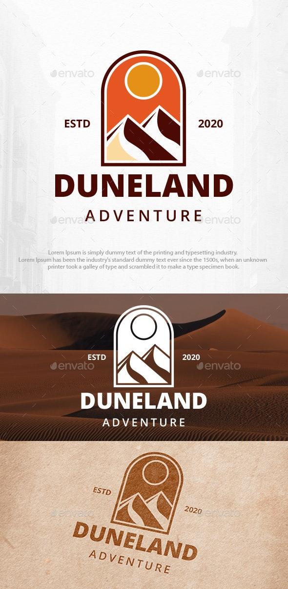 Sand Dunes Mountains Logo Template - Nature Logo Templates