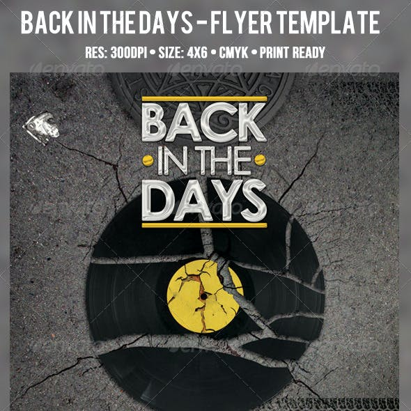 Back In The Days - Flyer Template