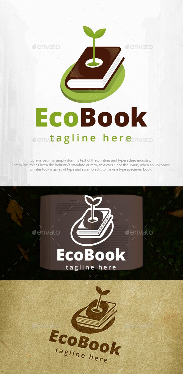 Eco Book Logo Template - Objects Logo Templates