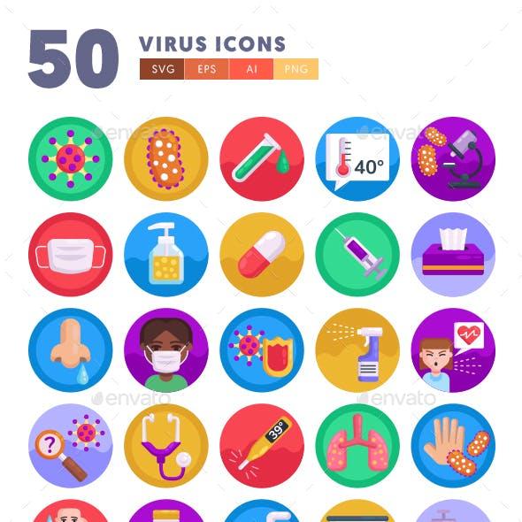 50 Virus Icons