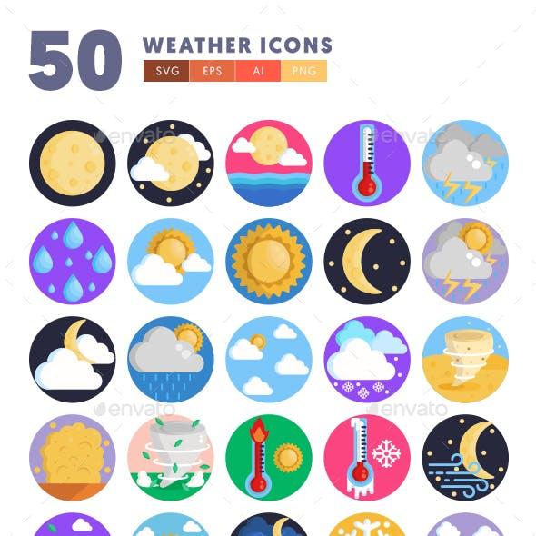 50 Weather Icons
