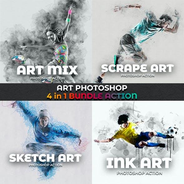 Art Photoshop Action 4 in 1 Bundle