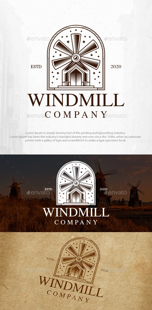 Windmill Logo Template - Buildings Logo Templates