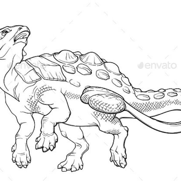 Cheerful Walking Ankylosaurus