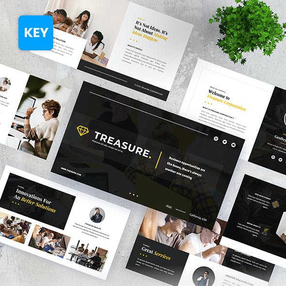 Treasure - Corporation Business Keynote Presentation Templates