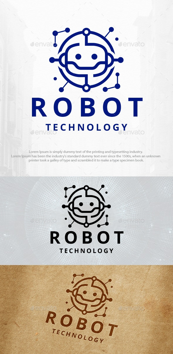Robot Technology Logo Template - Humans Logo Templates