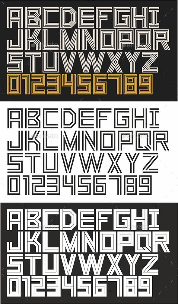 Linear Font - Decorative Symbols Decorative