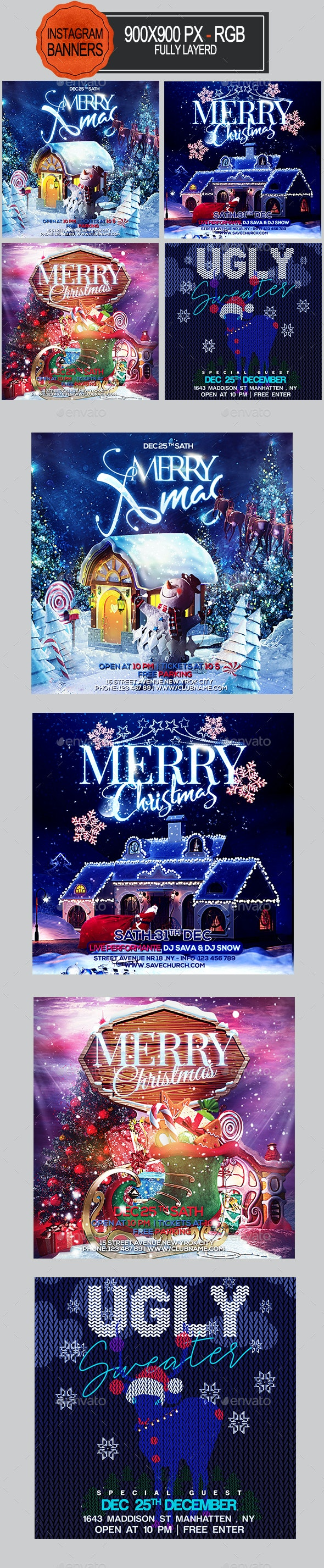 Christmas Instagram Banners - Banners & Ads Web Elements