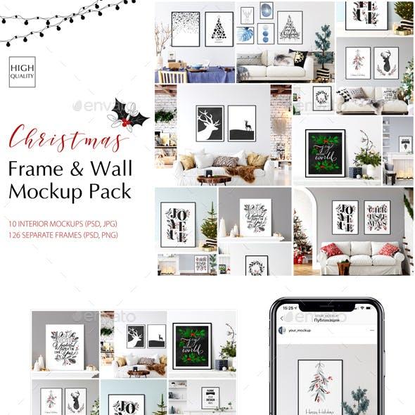 Christmas Frame & Wall Mockup Pack