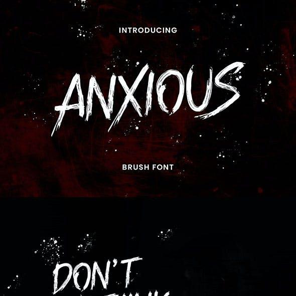 Anxious Brush Font