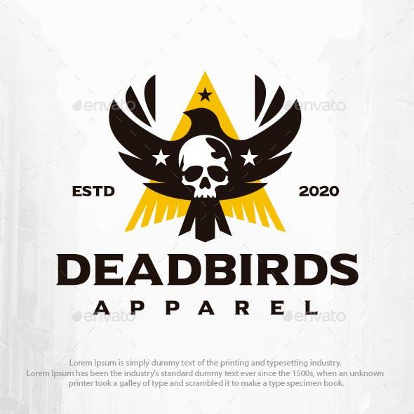 Dead Bird Skull Logo Template