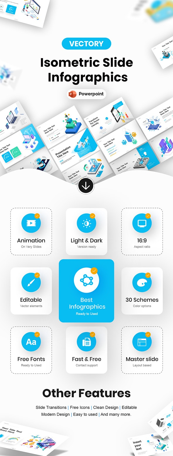 Isometric Infographic Powerpoint Presentation Template