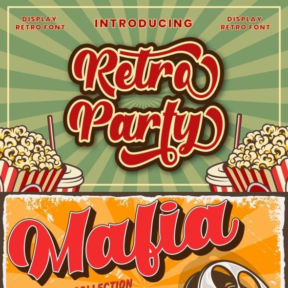 Retro Party - Display Retro Font