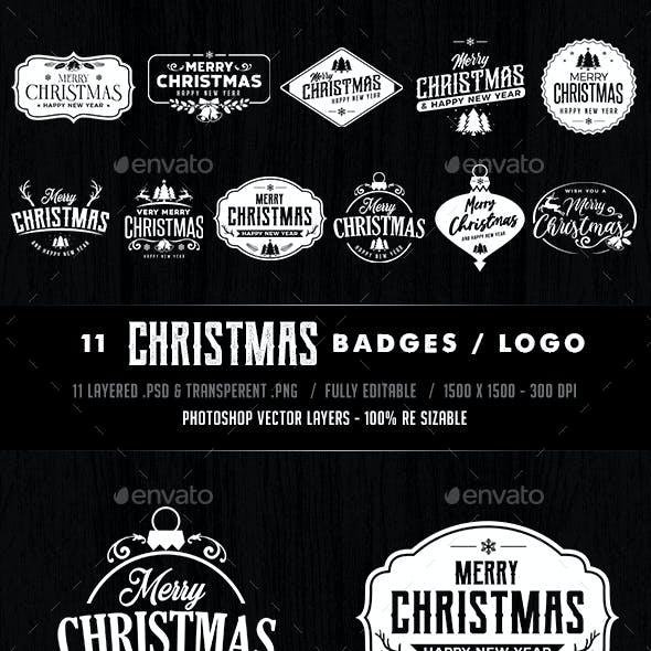 Chriatmas Badges Logos