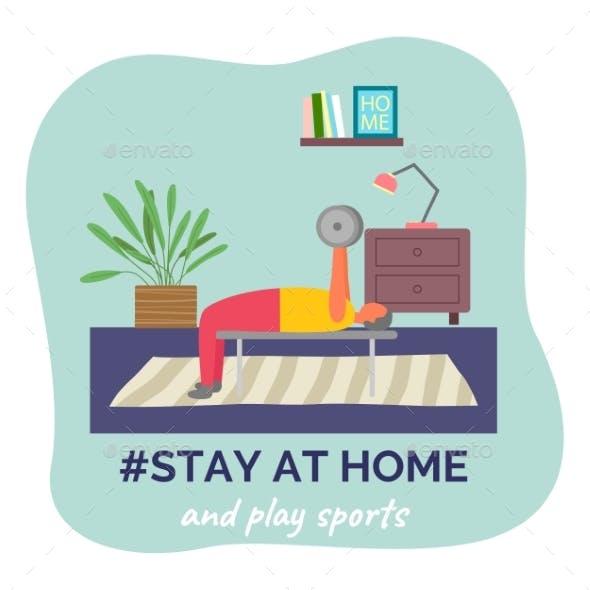 Stay at Home and Play Sports, Man Lifting Bar