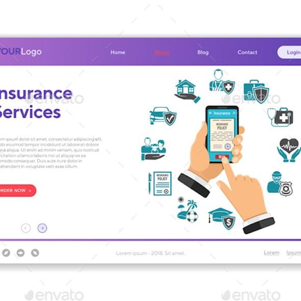 Online Insurance Services Concept