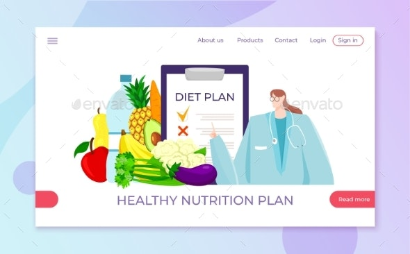 Diet Healthy Nutrition From Nutritionist Loss By Elevartun Graphicriver
