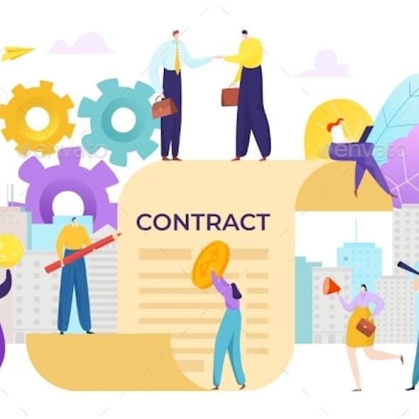 Agreement Contract Between People, Business
