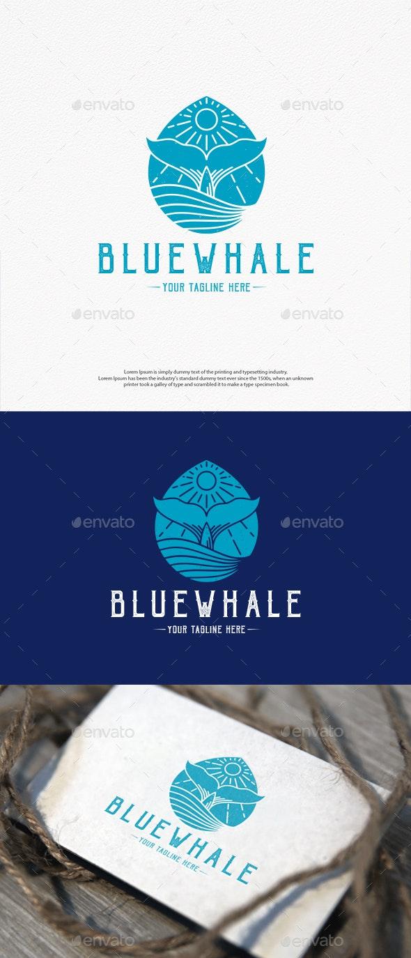 Water Drop Whale Logo Design - Animals Logo Templates