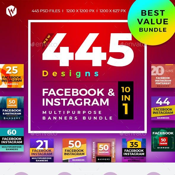 445 Facebook & Instagram Banner Bundle