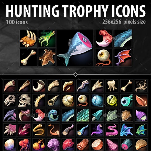 Hunting Trophy Icons