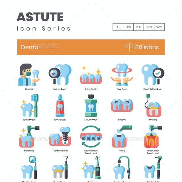 80 Dental Icons - Astute Series