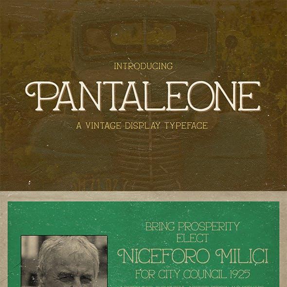 Pantaleone Vintage Typeface