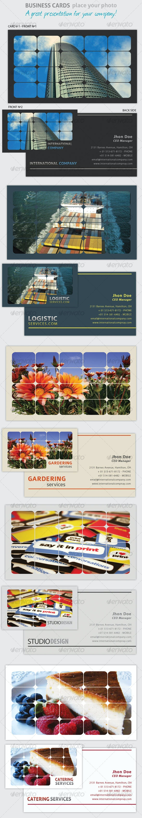 Business Card - Place Your Photo!  - Creative Business Cards