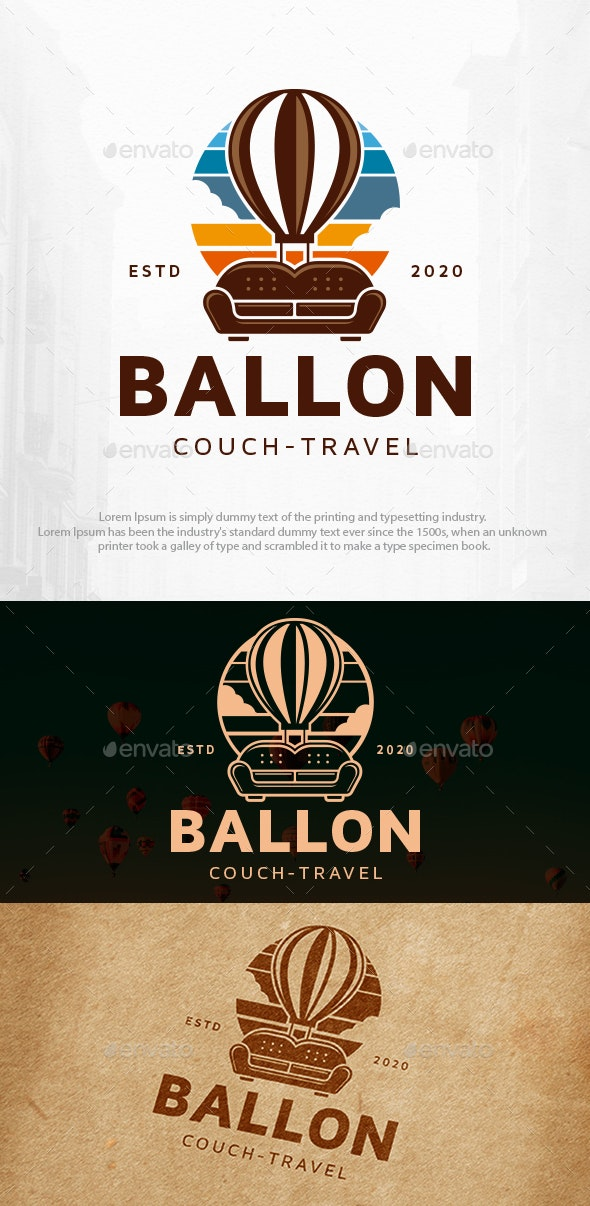 Couch Balloon Logo Template - Objects Logo Templates