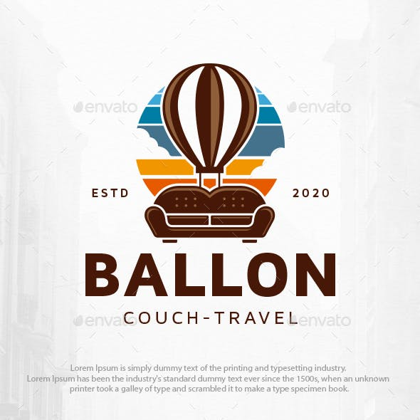 Couch Balloon Logo Template