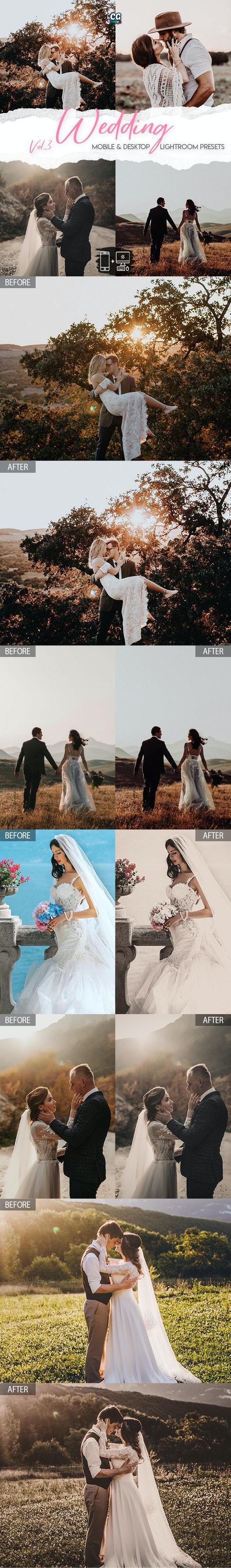 Wedding Lightroom Presets Vol. 3 - Wedding Lightroom Presets