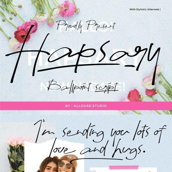Hapsary   Ballpoint Script