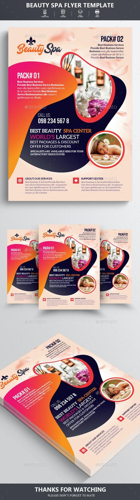 Beauty Spa Flyer - Flyers Print Templates