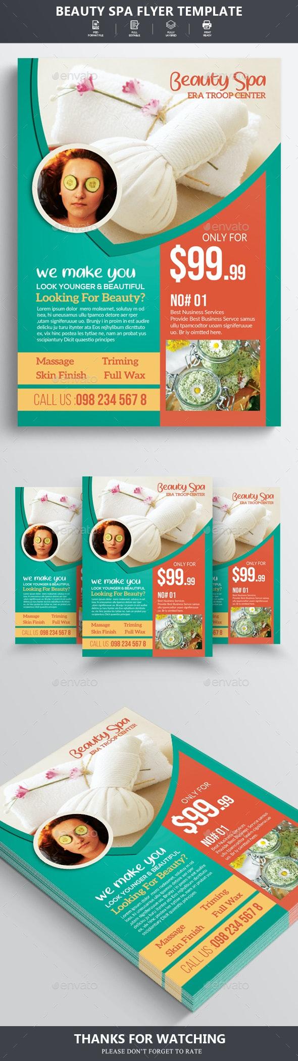 Beauty Spa Flyer/Poster - Flyers Print Templates