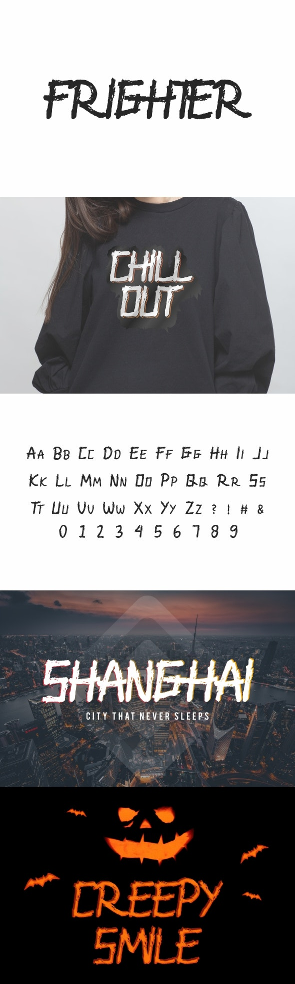 Frighter Unique Display Font - Handwriting Fonts