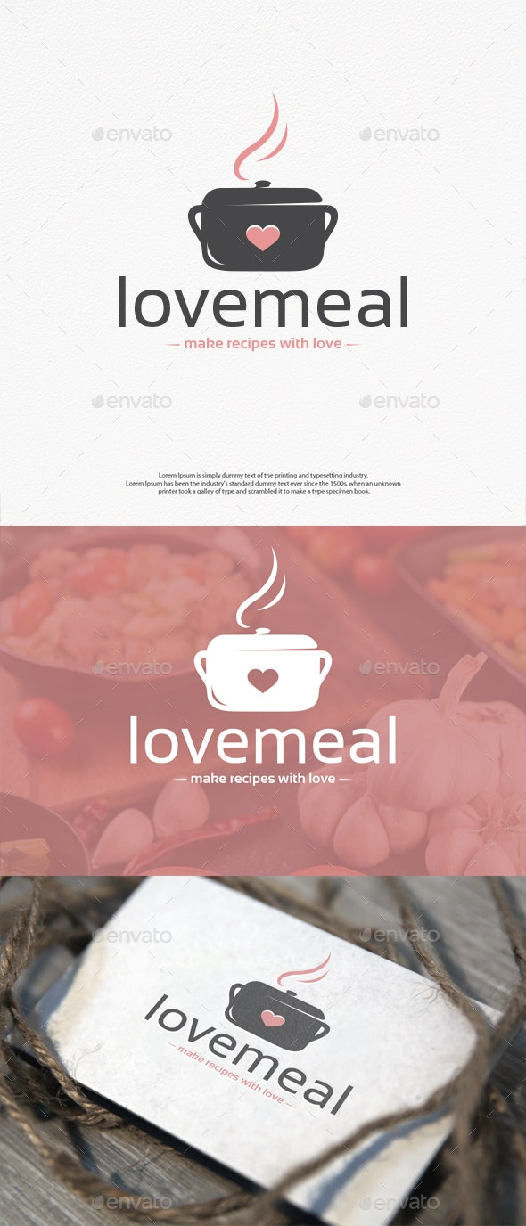 Love Meal Vector Logo Template - Food Logo Templates