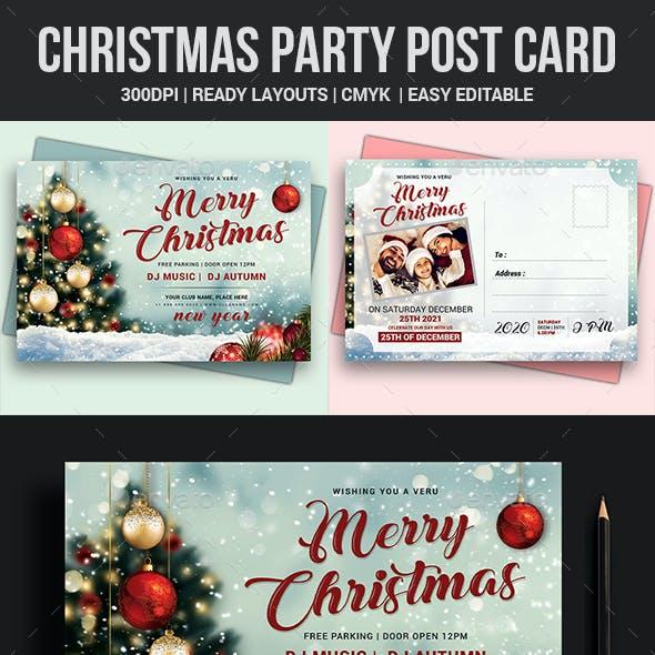 Christmas Postcard Templates