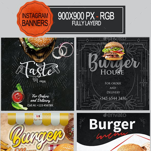 Burger Instagram Banners