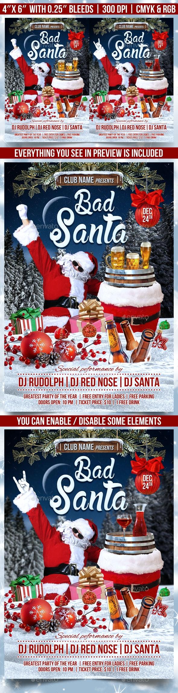 Bad Santa Flyer Template - Events Flyers