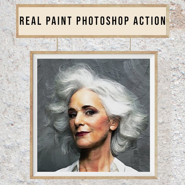 Real Paint - Photoshop Action