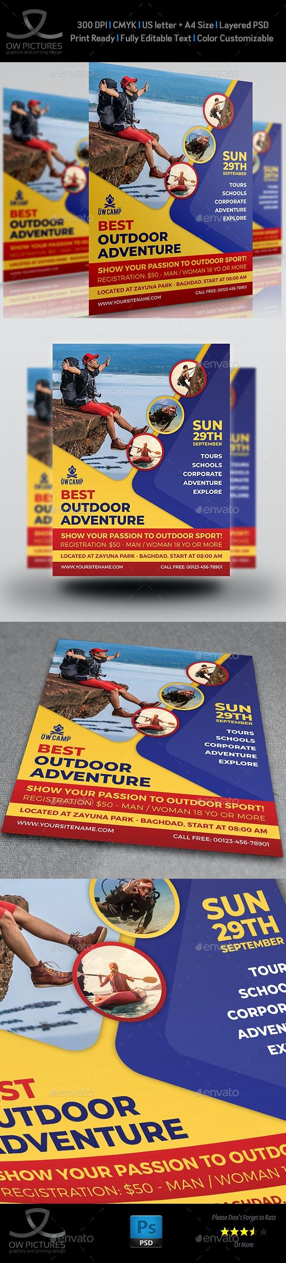 Outdoor Adventure Flyer Template - Flyers Print Templates