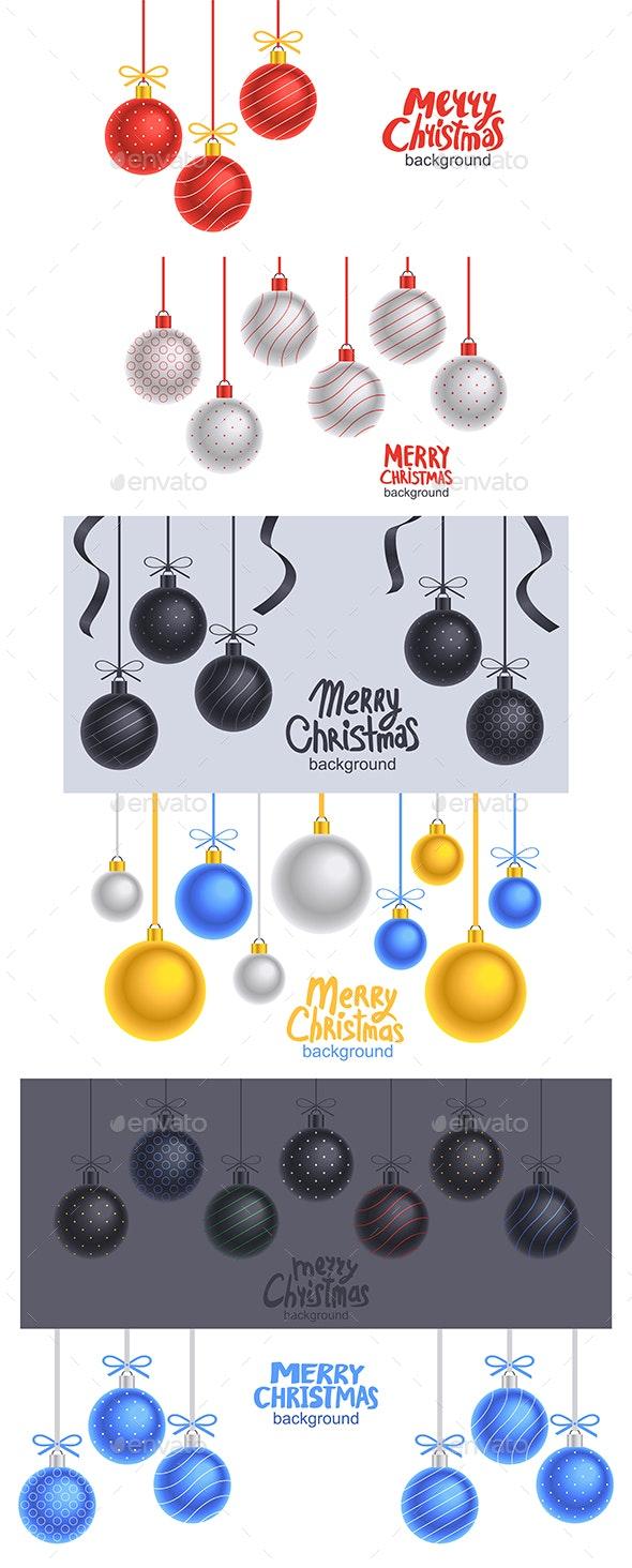Christmas balls background - Christmas Seasons/Holidays