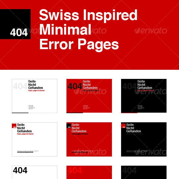 Swiss Inspired Minimal Error Pages
