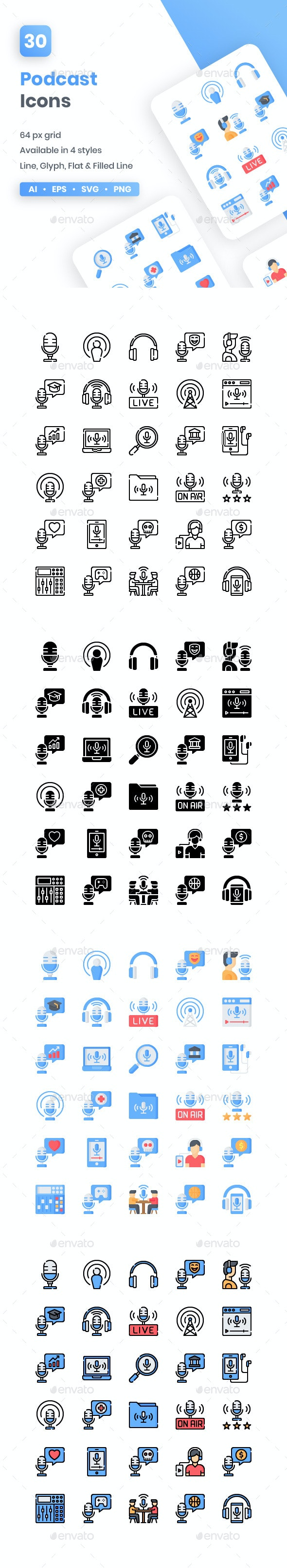 Podcast Icons - Media Icons