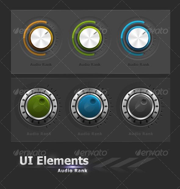 UI Elements #4 Audio Buttons - Web Elements