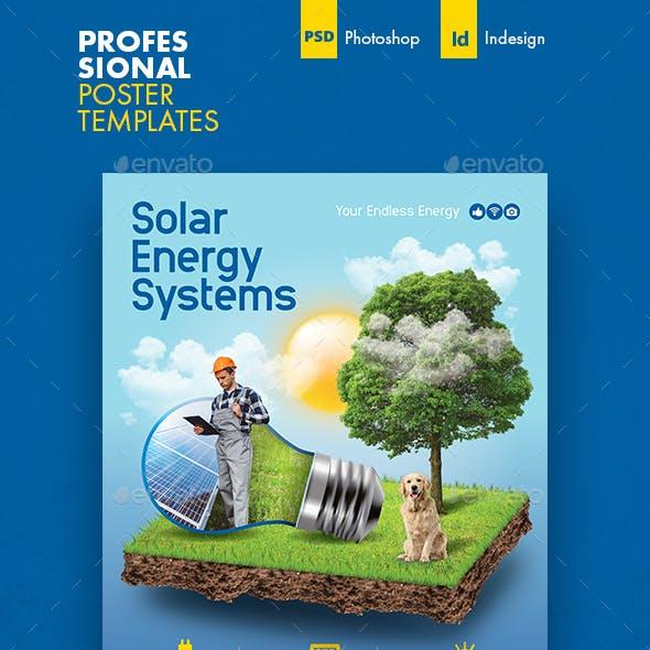 Solar Energy Poster Templates